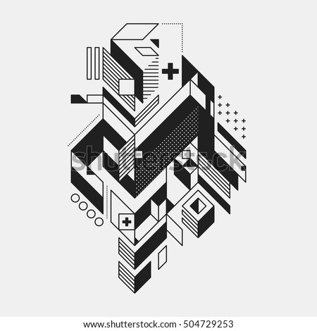 abstract geometric element in