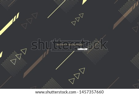 Abstract geometric elements on dark black gray background. Creative and Modern minimal geometric shapes design in EPS10 vector illustration.