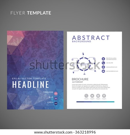 Abstract Geometric Flyer Design. Flyer Template With Polygonal
