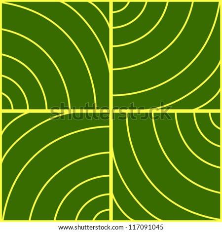 Abstract geometric green seamless pattern.