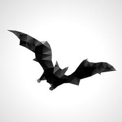Abstract geometric halloween bat - vector illustration