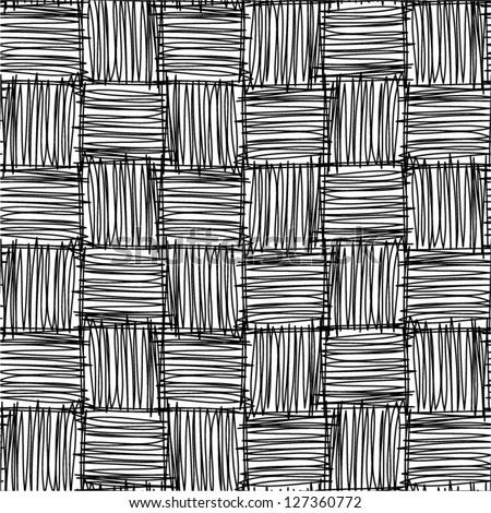 Abstract geometric hand drawn seamless pattern.