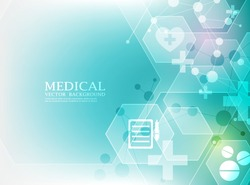 abstract geometric hexagon medical wallpaper.