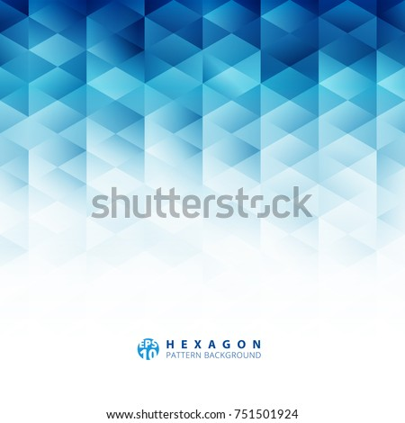 stock-vector-abstract-geometric-hexagon-pattern-blue-background-creative-design-templates-vector-illustration