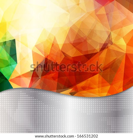 abstract geometric invitation