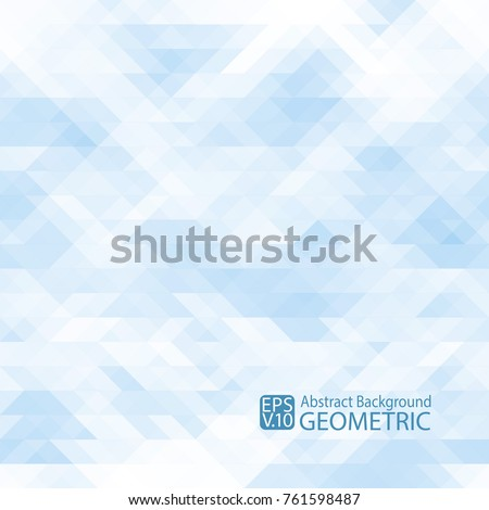 abstract geometric  light blue