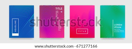 Abstract geometric line pattern background for business brochure cover design. Blue, purple, red and green vector banner poster template