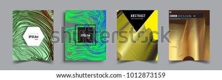 Abstract geometric line pattern background for business brochure cover design. Blue, yellow, red, orange, green, gold, black and white, vector sets of banner poster template   - Shutterstock ID 1012873159