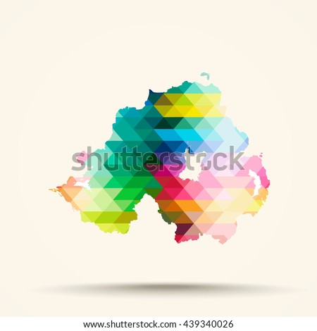 abstract geometric map northern