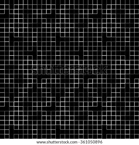 Abstract geometric mosaic pattern, simple seamless monochrome background. stock photo