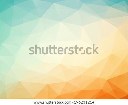 abstract geometric orange - blue background with triangles, vector illustration, eps 10 with transparency