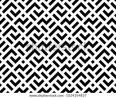 Abstract geometric patern with squares. A seamless vector background. Black and white texture. Graphic modern pattern