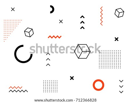 Abstract geometric pattern and background. Bauhaus style.