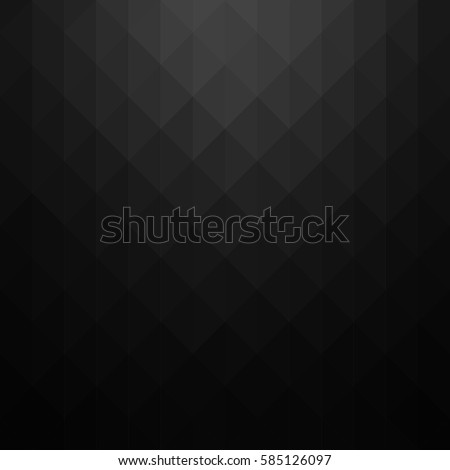 Abstract geometric pattern. Black triangles background. Vector illustration eps 10.