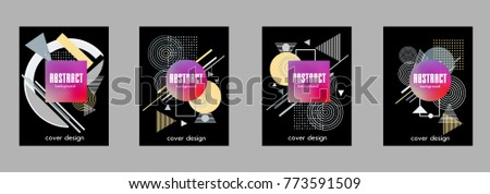 Abstract geometric pattern design and background. Use for modern design, cover, template, decorated, brochure, flyer.