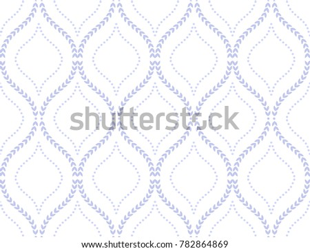 Abstract geometric pattern of the points, lines. A seamless vector background. Graphic blue and white pattern.
