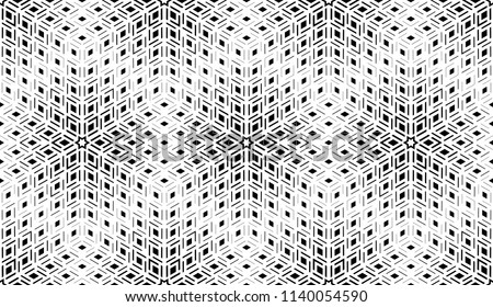 Abstract geometric pattern. Seamless vector background. White and black halftone. Graphic modern pattern. Simple lattice graphic design