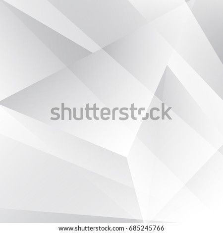 Abstract geometric  pattern White and gray color technology modern futuristic background, vector illustration #685245766