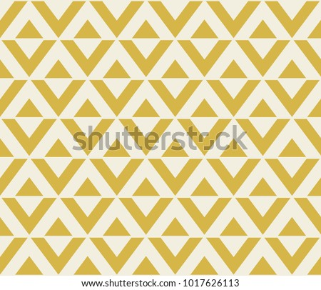 Abstract geometric pattern with lines. Yellow triangles and rhombuses
