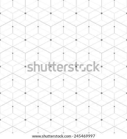 Abstract geometric pattern with rhombuses. Repeating seamless vector background. Gray and white texture.