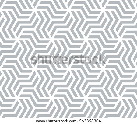 Abstract geometric pattern with stripes, lines. A seamless vector background. Gray and white texture. #563358304