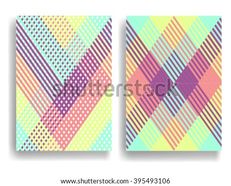 Abstract Geometric pattern with Stripes. Seamless texture in different colors, can be used for background.Vector Illustration.