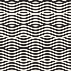 Abstract geometric pattern with wavy lines. Interlacing rounded stripes design. Seamless vector background.