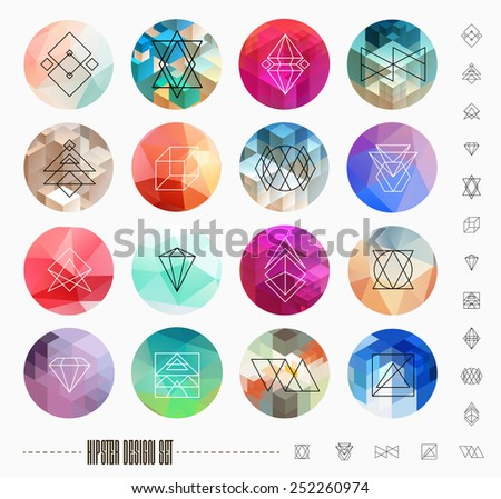 abstract geometric patterns set