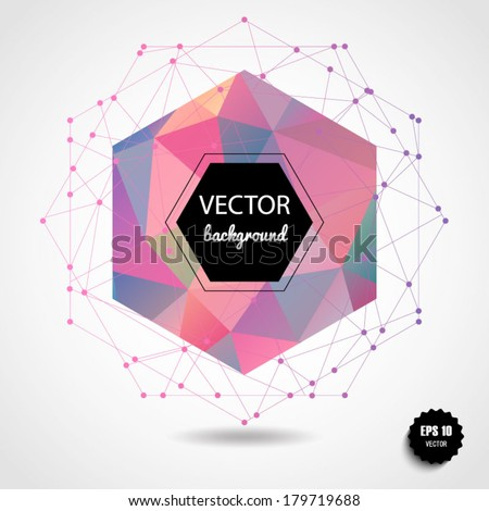 abstract geometric pink