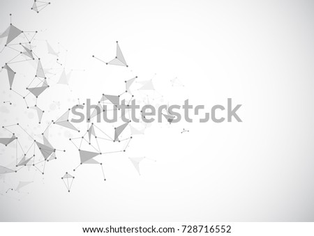 Abstract geometric Polygonal Space Background with Connecting Dots and Lines. Vector illustration