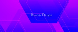 Abstract geometric purple modern stylish smooth dark banner background vector