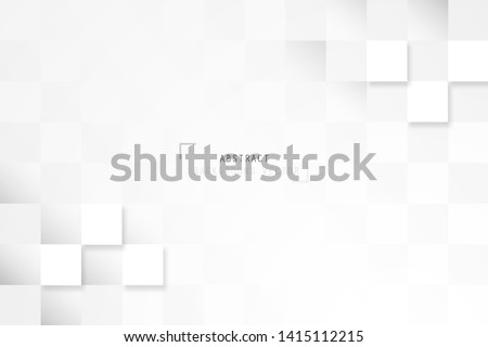 Abstract geometric rectangle pattern design in white and gray background. Creative minimal design in EPS10 vector illustration. #1415112215