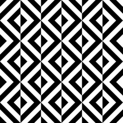 Abstract geometric seamless black and white pattern background. The diamond pattern consisting of black and white stripes. Vector 10 EPS illustration.