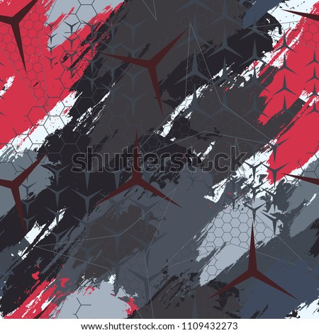 Abstract geometric seamless military camouflage covers pattern. Fashion Style Design Print Triangle. With vertical fading lines, tracks, halftone stripes. Extreme sport style illustration. Urban.