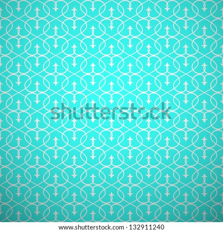 Abstract geometric seamless pattern. Aqua and white style pattern with curve and line. Vector illustration.