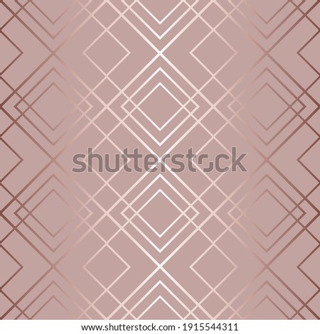 Abstract geometric seamless pattern. Art deco. Repeated elegant gatsby background. Repeating beautiful texture. Fancy patern. Pastel color. Fashion design for wallpapers, gift wrappers, prints. Vector