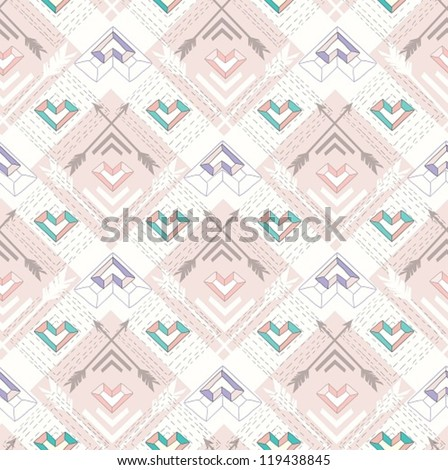 Cute Aztec Patterns Aztec Style Pattern With