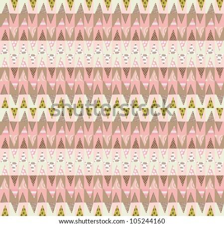 Aztec style pattern with Pastel Aztec Pattern Wallpaper
