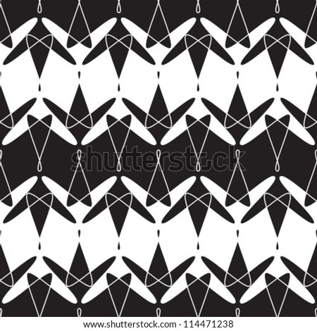 Abstract geometric seamless pattern. Black and white style ornament.