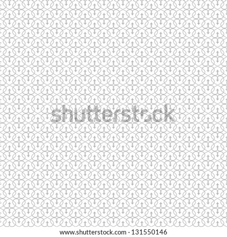 Abstract geometric seamless pattern. Black and white style pattern with curve and line. Vector illustration.