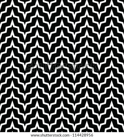 Abstract geometric seamless pattern. Black and white style pattern with lines.