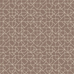 Abstract geometric seamless pattern. Brown and white pattern with line.