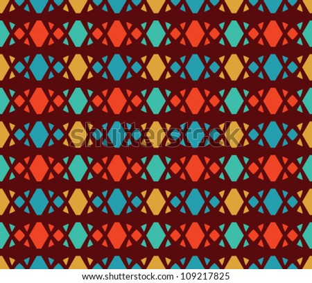 Abstract geometric seamless pattern. Colorful pattern with circle and line.