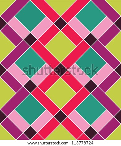 Abstract geometric seamless pattern. Colorful pattern with line and rhombus
