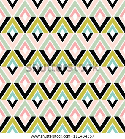 Abstract geometric seamless pattern. Colorful pattern with triangle and lines.