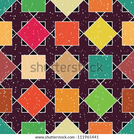Abstract geometric seamless pattern. Colorful pattern with triangle and rhombus