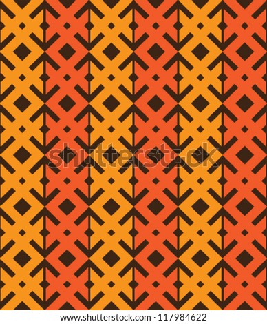 Abstract geometric seamless pattern. Ethnic ornament with rhombus and line.