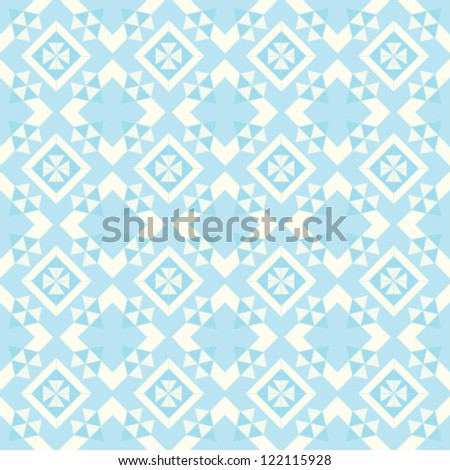 Abstract geometric seamless pattern. Winter ornament with triangle.