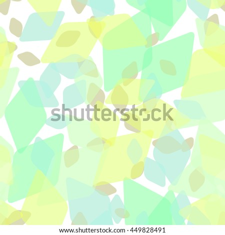 Contemporary Elements abstract geometric seamless pattern with rhombus and brilliant