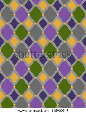Abstract geometric seamless pattern with rhombuses. Vector illustration